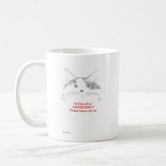 En caso de una emergencia rescate por favor mi taza de café