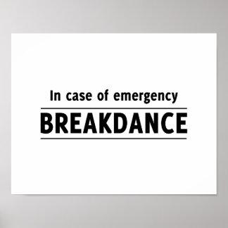 En caso de urgencia Breakdance Póster