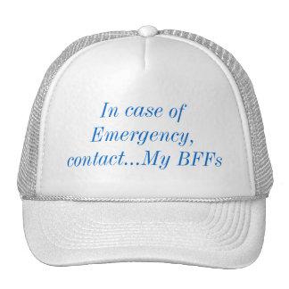 En caso de urgencia, entre en contacto con mi gorros bordados