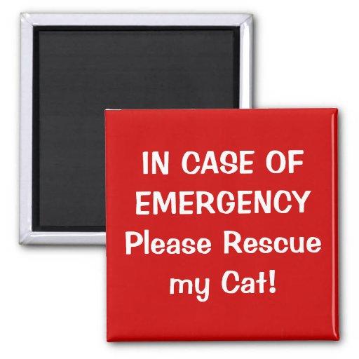 En caso de urgencia imán cuadrado