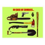 En caso de zombis… postal