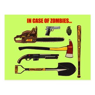 En caso de zombis… tarjeta postal
