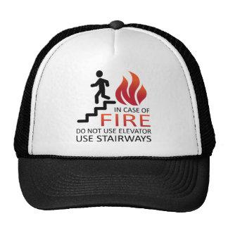 En caso del fuego gorro de camionero