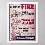 En caso del fuego impresiones