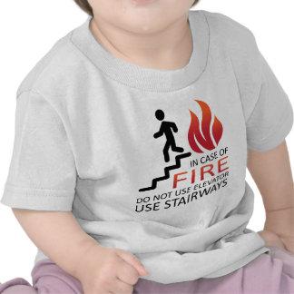 En caso del fuego camisetas