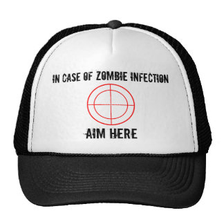 En caso del gorra de la infección del ZOMBI