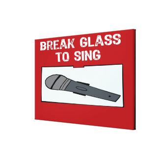 En caso del vidrio de la rotura de la emergencia a impresión en lona estirada
