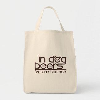 En cervezas del perro…. bolsa tela para la compra