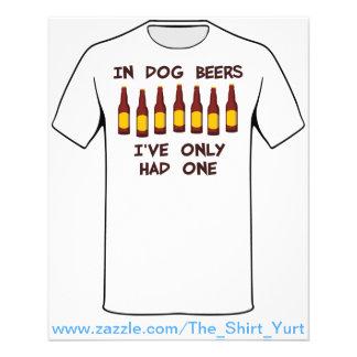 """En cervezas del perro he tenido solamente uno folleto 4.5"""" x 5.6"""""""