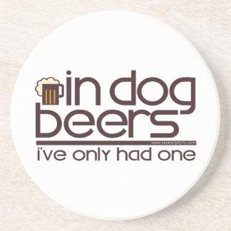 En cervezas del perro…. posavasos para bebidas