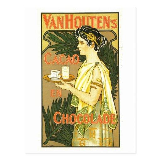 En Chocolade 1899 de Cacao de Van Houten Tarjetas Postales