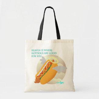 En cielo los perritos calientes son buenos para u bolsas de mano