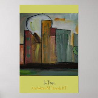 En ciudad por el arte de Kim Anderson Impresiones