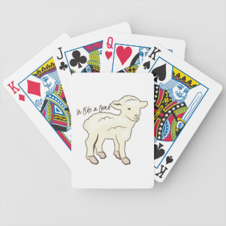 En como un cordero baraja de cartas