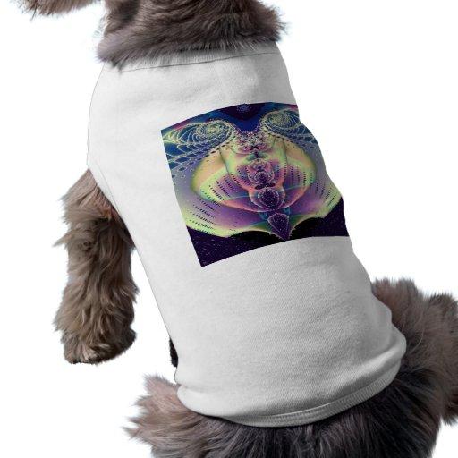 En corazón del fractal de los azules prenda mascota