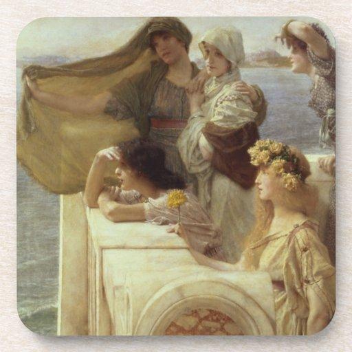 En Cradle del Aphrodite, 1908 (aceite en el panel) Posavasos De Bebidas