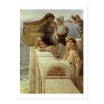 En Cradle del Aphrodite, 1908 (aceite en el panel) Postal