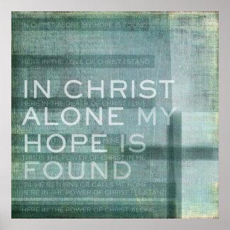 En Cristo solo Póster