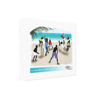 en cualquier playa en el Caribe Lienzo Envuelto Para Galerias