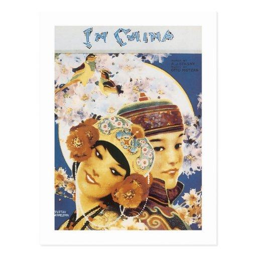 En cubierta del cancionero del vintage de China Tarjetas Postales