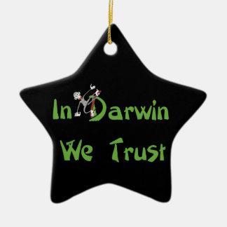 En Darwin confiamos en Adorno De Cerámica En Forma De Estrella