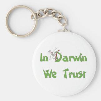 En Darwin confiamos en Llavero Redondo Tipo Pin