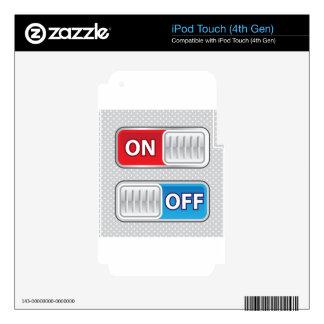 En de estilo del Web del interruptor Calcomanías Para iPod Touch 4G