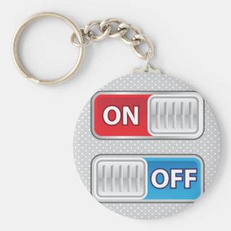 En de estilo del Web del interruptor Llavero Redondo Tipo Pin