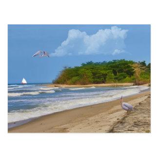 En de la playa una postal en alguna parte