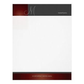 En del monograma de PixDezines retro Membrete A Diseño