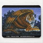 En descanso tigre con alas Mousepad Alfombrilla De Ratones