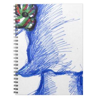 En desenfocado una flor de la mañana spiral notebooks