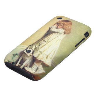 En deshonra del peluquero de Charles Burton Tough iPhone 3 Cárcasa
