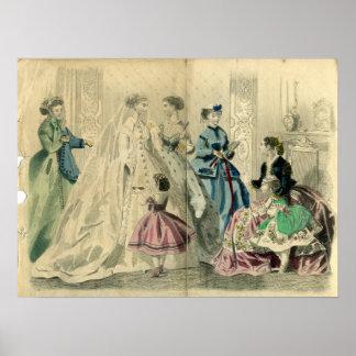 En diciembre de 1866 placa de moda póster