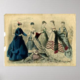 En diciembre de 1867 placa de moda impresiones
