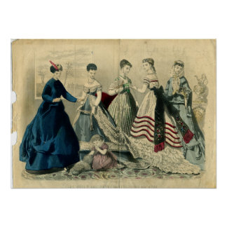 En diciembre de 1867 placa de moda póster