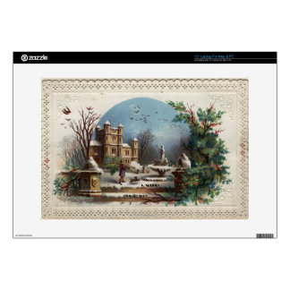 En diciembre de 1872: El jardinero recoge acebo Portátil 38,1cm Skins