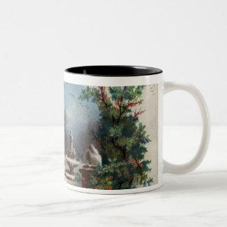 En diciembre de 1872: El jardinero recoge acebo Tazas De Café