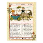 En diciembre de 1884 almanaque.  Capricornio, la c Postal
