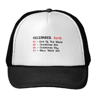 En diciembre de 2012 gorros