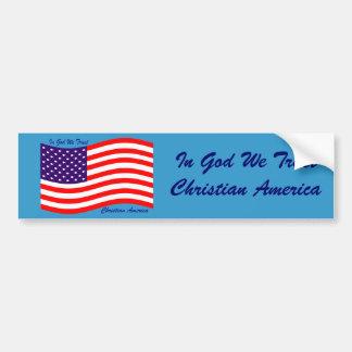 En dios confiamos en al cristiano América del ~ Pegatina De Parachoque