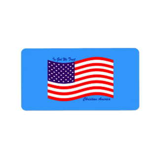 En dios confiamos en al cristiano América del ~ Etiqueta De Dirección