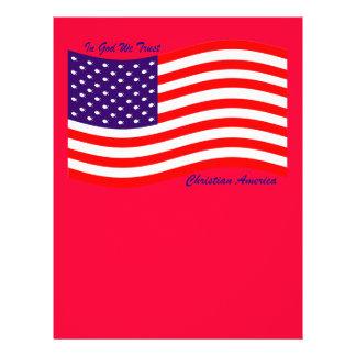 En dios confiamos en al cristiano América del ~ Folleto 21,6 X 28 Cm