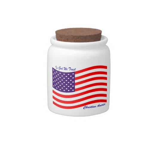 En dios confiamos en al cristiano América del ~ Jarras Para Caramelos