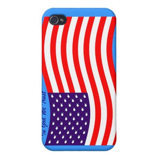 En dios confiamos en al cristiano América del ~ iPhone 4 Cárcasas