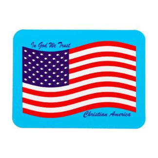 En dios confiamos en al cristiano América del ~ Imán Rectangular