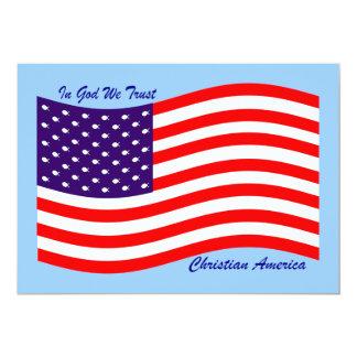 """En dios confiamos en al cristiano América del ~ Invitación 5"""" X 7"""""""