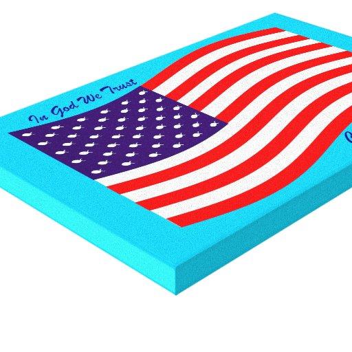 En dios confiamos en al cristiano América del ~ Lienzo Envuelto Para Galerias