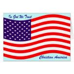 En dios confiamos en al cristiano América del ~ Tarjeta De Felicitación