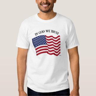 En dios confiamos en con la bandera de los poleras